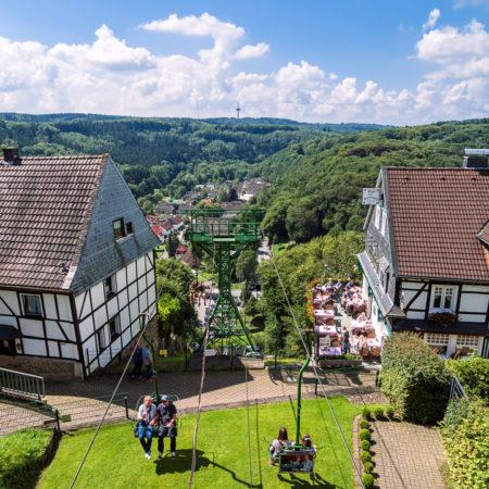 Schloss Burg - Seilbahnblick