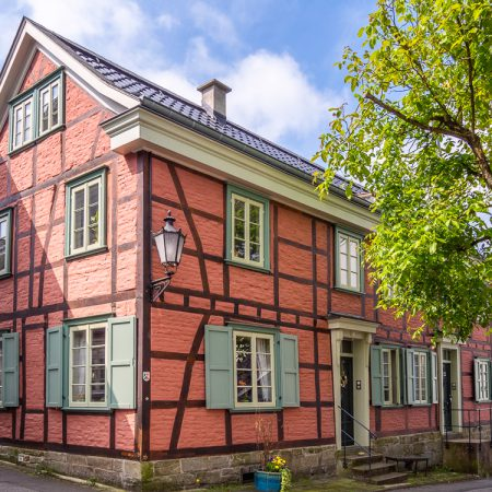 Rotes Fachwerkhaus in Cronenberg