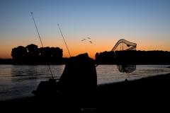 Angler am Rheinufer - Leverkusen