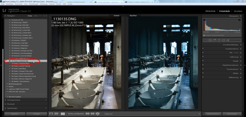 Presets in Adobe Lightroom Classic CC importieren
