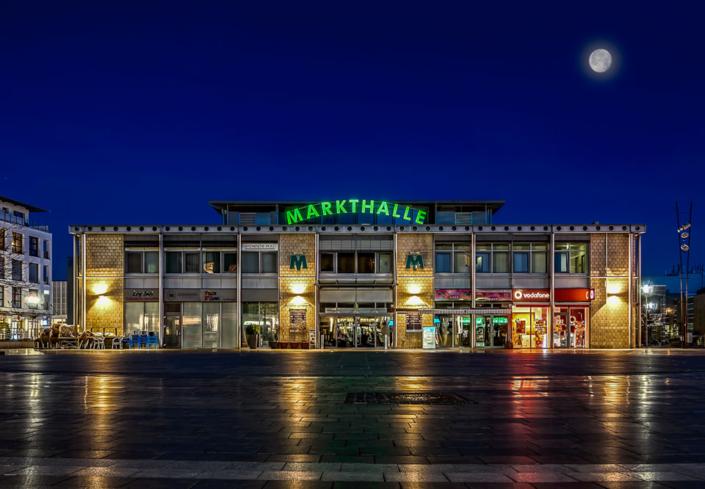 Langenfeld - Markthalle - Blaue Stunde
