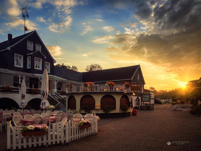 Diepental Kiosk Sonnenaufgang