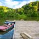 Talsperre Diepental Bootssteg