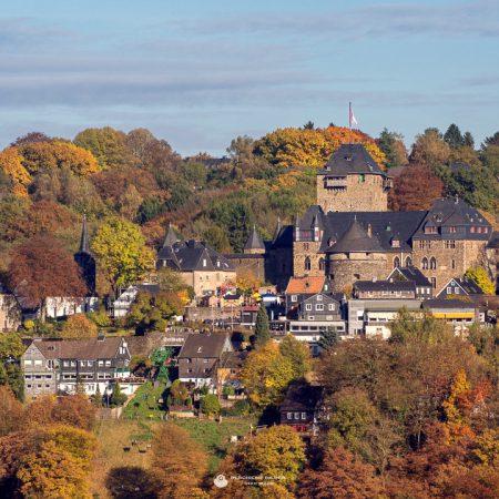 Schloss Burg Totale Herbst