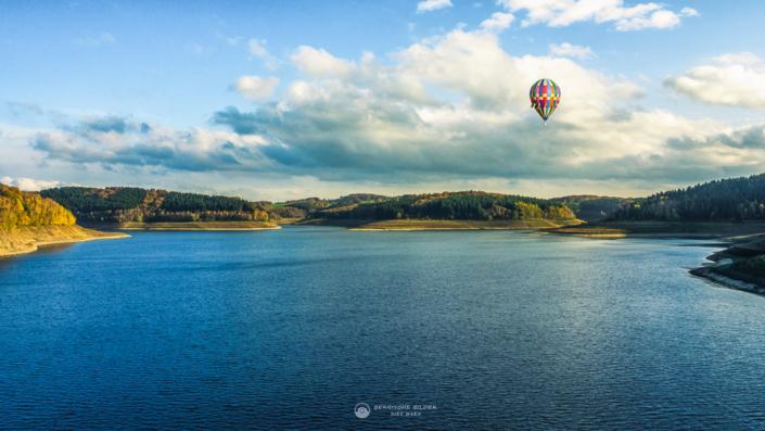 Große Dhünntalsperre mit Ballon