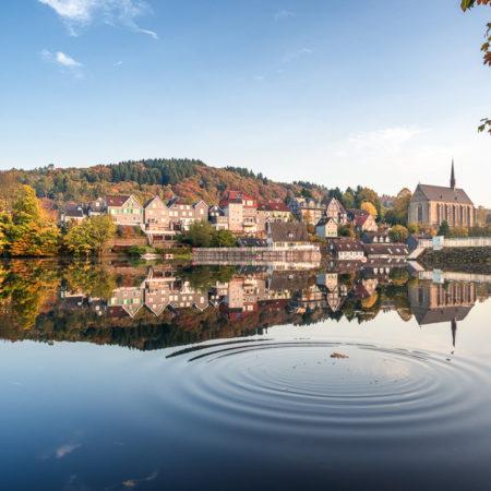 Beyenburger Stausee Herbstwellen